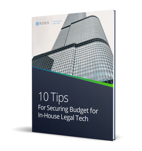 Ebook 10 tips for securing budget for in house legal tech